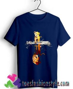 Cartoon The Lion King Simba Mufasa T shirt For Unisex
