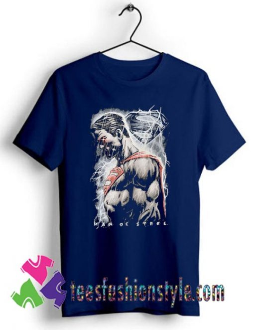 Superman Man of Steel Movie Action T shirt For Unisex