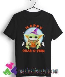 Baby yoda hug Pumpkin happy Halloween T shirt