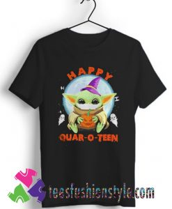 Baby yoda hug Pumpkin happy Halloween T shirt
