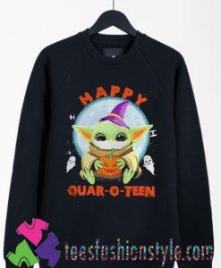Baby yoda hug Pumpkin Halloween Sweatshirts