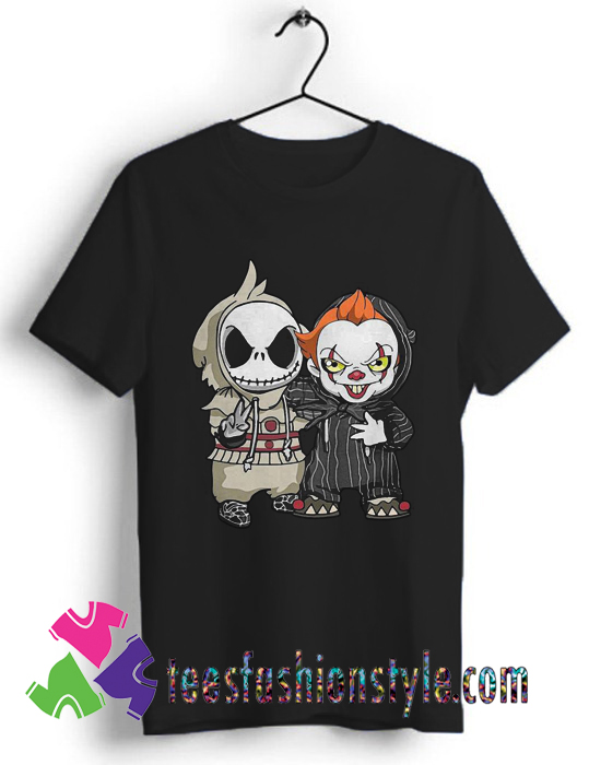 Cute Jack Skellington And Pennywise Friend Happy Halloween T Shirt