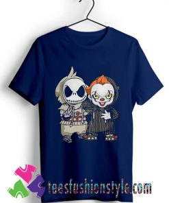 Cute Jack Skellington And Pennywise Friend Halloween T shirt
