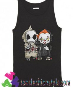 Cute Jack Skellington And Pennywise Tank Top