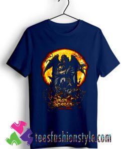 Halloween jack skellington iron maiden T shirt