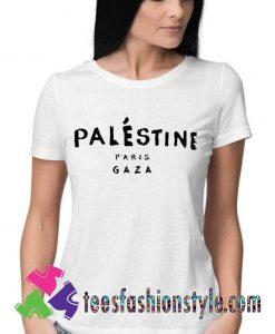 Palestine Celine Paris GAZA Stencil T shirt For Unisex