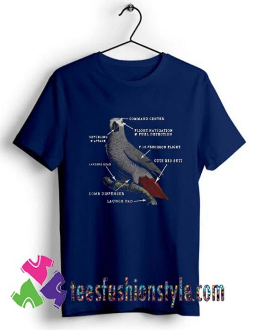 Parrot Anatomy Ladies T shirt For Unisex By Teesfashionstyle.com