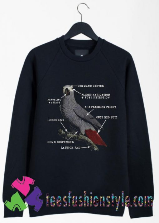 Parrot Anatomy Ladies Sweatshirts By Teesfashionstyle.com