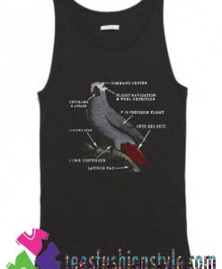 Parrot Anatomy Ladies Tank Top By Teesfashionstyle.com