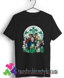 Characters Starbucks Halloween T shirt For Unisex