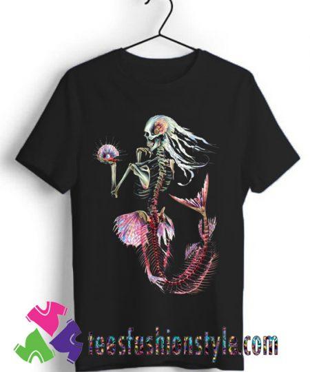 Skeleton Mermaid Ocean shirt