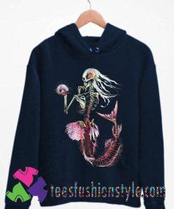 Skeleton Mermaid Ocean Hoodie