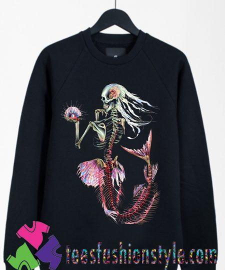 Skeleton Mermaid Ocean Sweatshirts