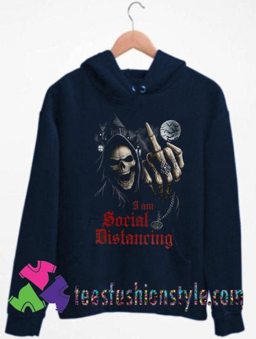 Social Distancing Skull Middle Finger Unisex Hoodie