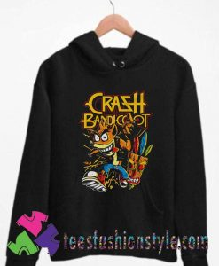 Thrash Bandicoot Metal Artwork Unisex Hoodie By Teesfashionstyle.com