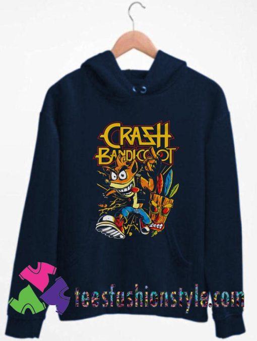 Thrash Bandicoot Metal Artwork Unisex Hoodie By Teesfashionstyle.com