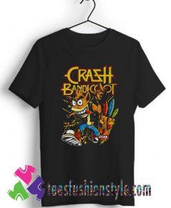 Thrash Bandicoot Metal Artwork T shirt For Unisex