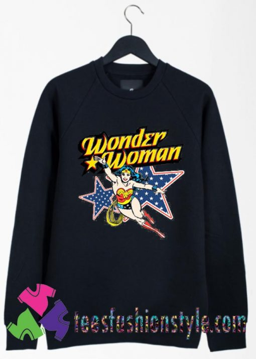 Wonder Woman Action Crewneck Sweatshirts By Teesfashionstyle.com