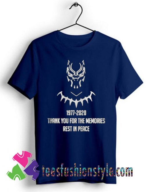 Chadwick Boseman thank you for the memories rest in peace T shirt
