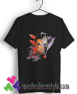 Chadwick Boseman Black Panther face retro T shirt For Unisex