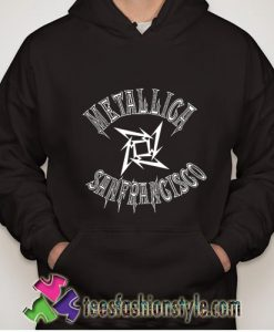 Metallica sanfrancisco basketball hoodie