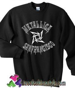 Metallica sanfrancisco basketball sweatshirt