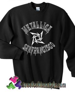 Metallica sanfrancisco basketball sweatshirt